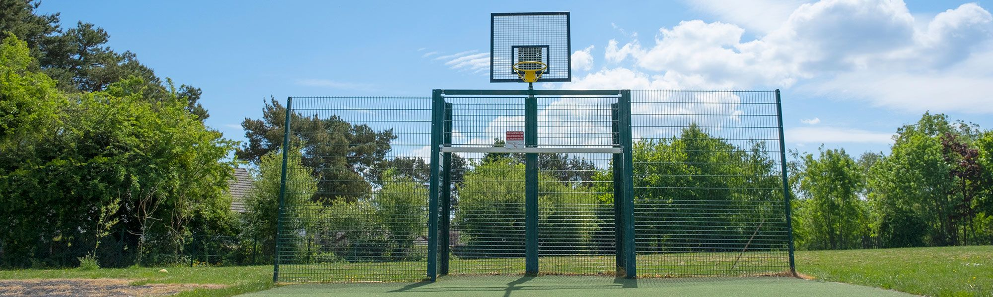 Basketball ring and court surface