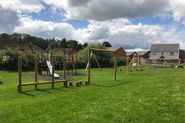 Residential play area at Taylor Wimpey in Eccleshall, Stafford