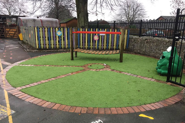 Playground at Trefonen Primary School in Oswestry