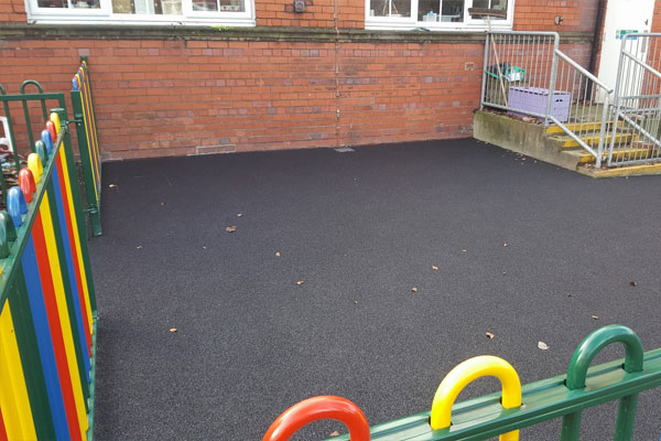 Wetpour Area at Wrexham Nursery