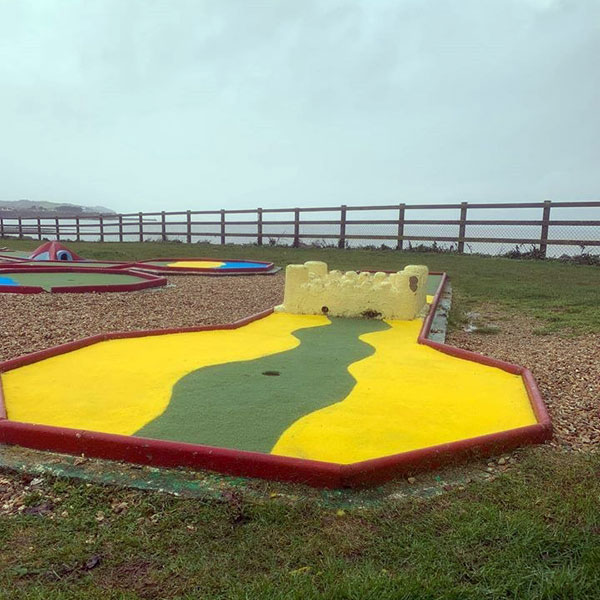 Outdoor crazy golf course